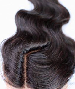 silk base closure hair piece