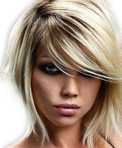 frontal hair loss women side swept faux fringe bangs