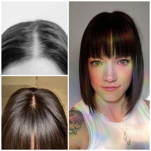 low density hair topper natural hair loss