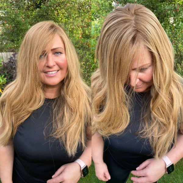 natural hair topper uk women high quality blonde hair loss