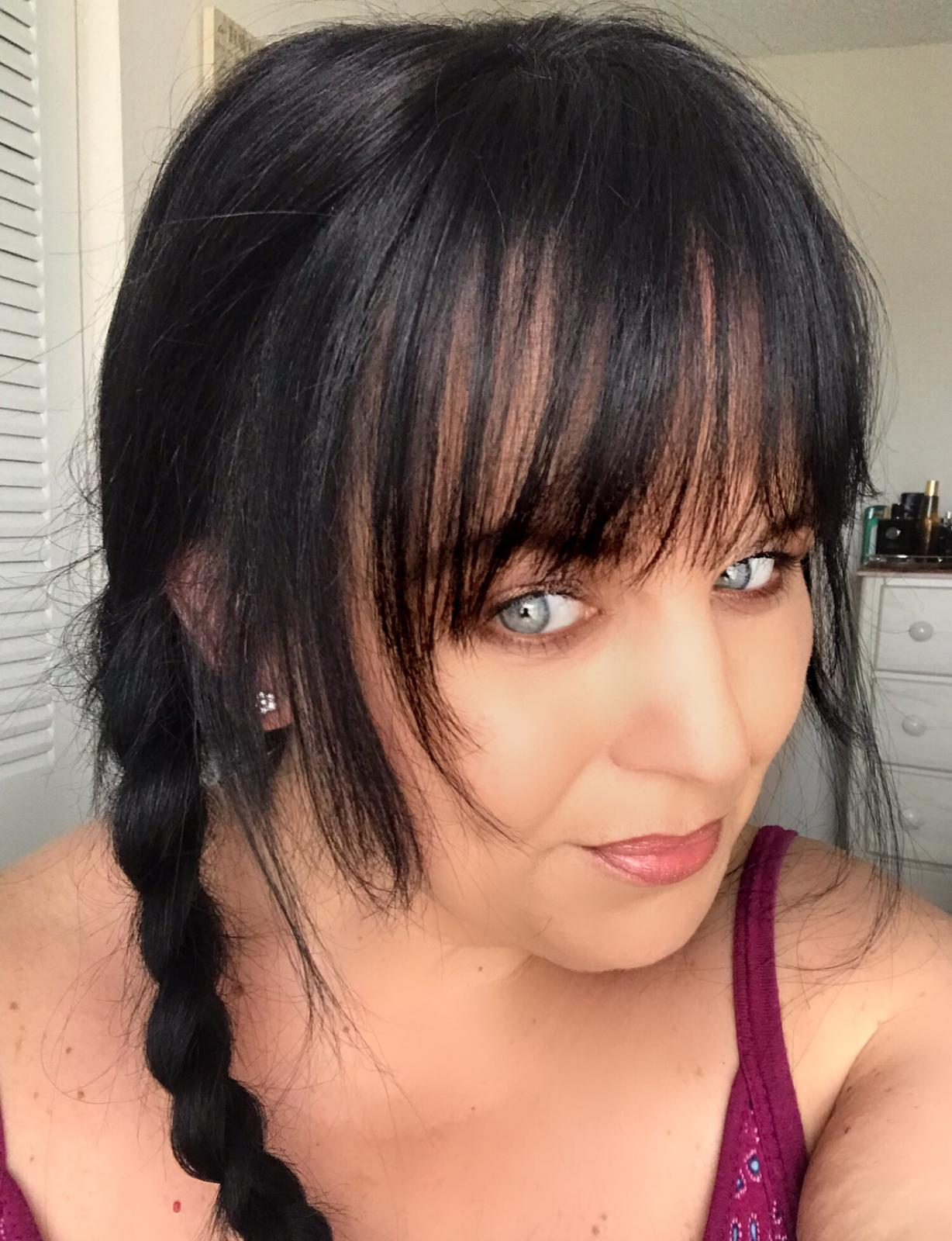 Hair topper with fringe bangs hair loss