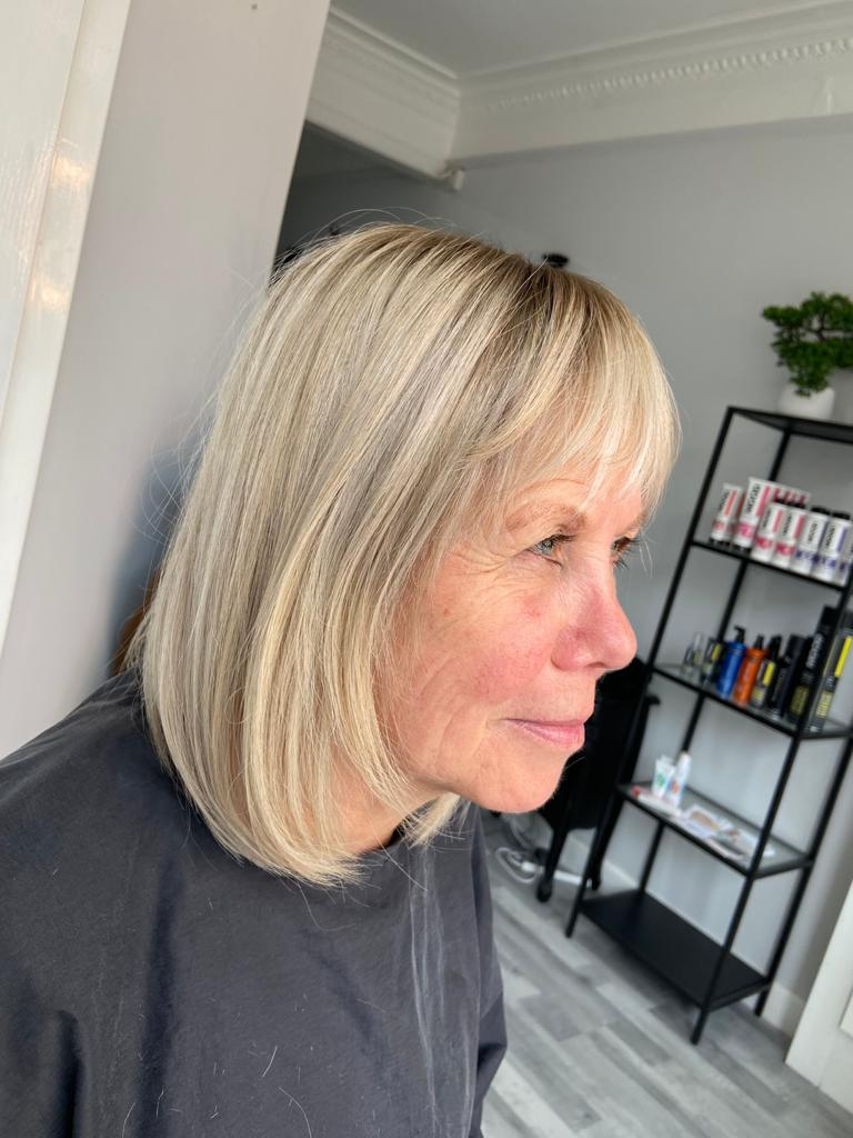 hair loss in women topper with fringe bangs