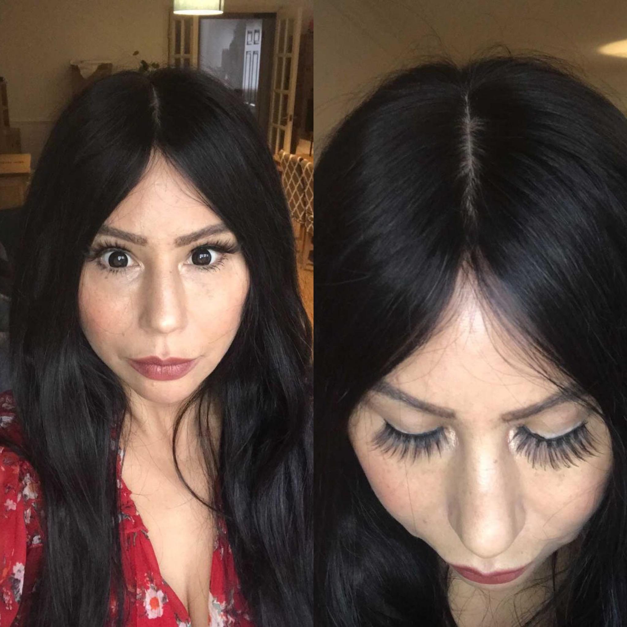 women wearing silk base natural hair topper hair loss alopecia low density