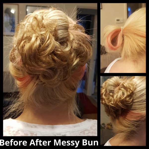 Messy Human Real Hair Bun
