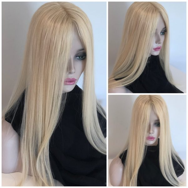 Real Human hair wig topper wiglet closure hairpiece women hair loss thin thinning