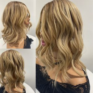 """""""SUNSHINE"""" 7X7″ Luxury Topper, 18-19″ length, 130g, Dimensional & Highlights & Ombre"""