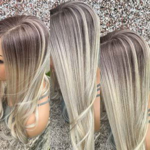 """READY TO SHIP """"ASHY"""" 4×5″, 22″ length, LOW DENSITY, 60g, Light Blonde with Ashy Ombre"""
